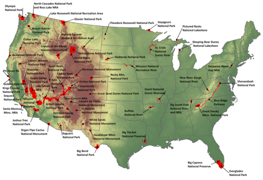 USA - US Pages - Nationalparks